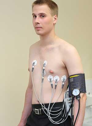 Messung der Herzfrequenz-Variabilität eines Patienten