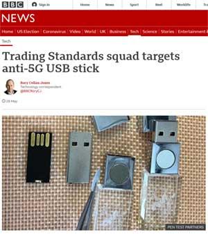 Angeblicher Schutz gegen 5G