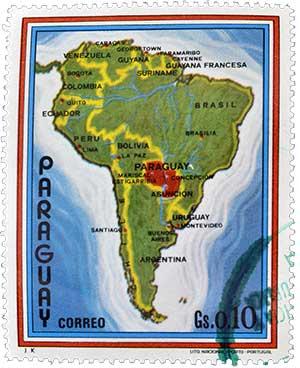 Paraguay auf der Landkarte