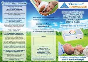 Info-Folder Hamoni® Harmonisierer auf Ungarisch, Außenseite