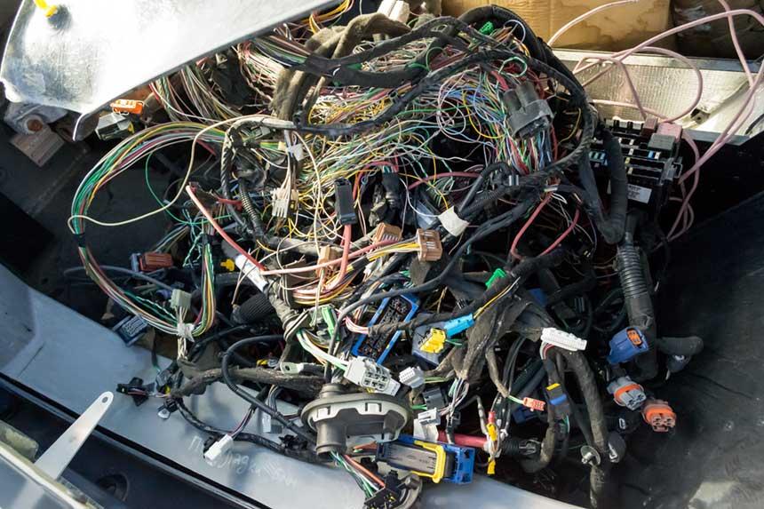 Kabel in einem PKW