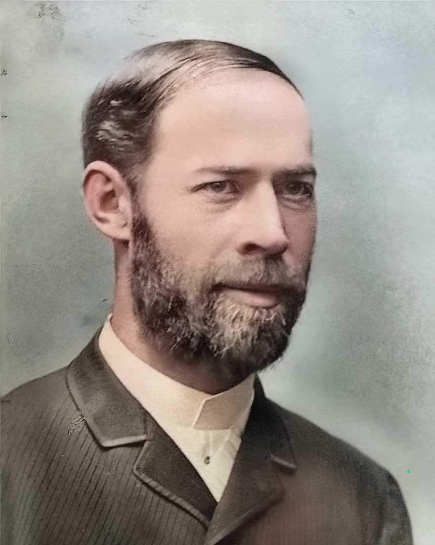 Portraitfoto von Heinrich Hertz (1857-1894)