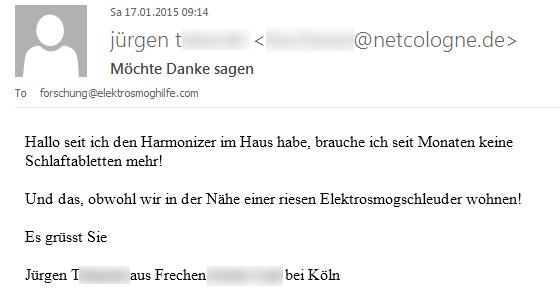 Erste Rückmeldung von Jürgen T.
