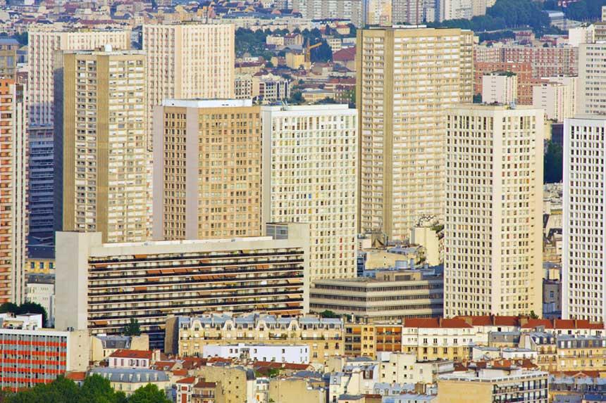 Wohnblocks in Paris